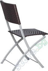 Сгъваем градински стол - Имитация на ратан