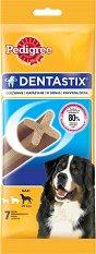 Pedigree DentaStix Large - Дентално лакомство за кучета от едри породи на възраст над 4 месеца - опаковка от 7 броя - продукт
