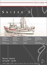 Скицник за рисуване - Skizze S - Плътност на хартията 120 g/m : 2 :  - четка