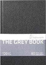 Скицник за рисуване - The Grey Book - Плътност на хартията 120 g/m : 2 :