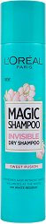 L'Oreal Magic Shampoo - Sweet Fusion - Освежаващ сух шампоан със сладък аромат - мокри кърпички