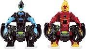 """Фигурки омни бойци - Heatblast и XLR8 - Комплект за игра от серията """"Omni-lunch Battle Figures"""" -"""