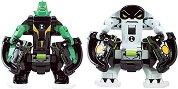 """Фигурки омни бойци - Diamondhead и Cannonbolt - Комплект за игра от серията """"Omni-lunch Battle Figures"""" - играчка"""