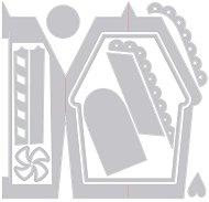 Щанци за машина за изрязване и релеф - Gingerbread Card - Комплект от 11 броя с размери от 0.9 до 13.9 cm