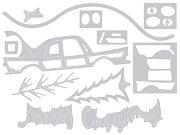 Щанци за машина за изрязване и релеф - У дома за Коледа - Комплект от 12 броя с размери от 0.9 до 10 cm