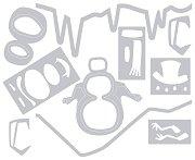 Щанци за машина за изрязване и релеф - Снежен човек - Комплект от 10 броя с размери от 0.9 до 6.4 cm