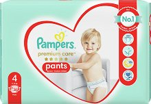 Pampers Premium Care Pants 4 - Maxi - Гащички за еднократна употреба за бебета с тегло от 8 до 14 kg - продукт