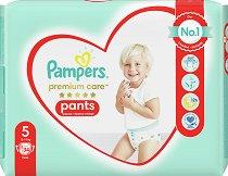 Pampers Premium Care Pants 5 - Junior - Гащички за еднократна употреба за бебета с тегло от 11 до 18 kg - залъгалка