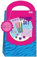 Комплект за картички - С печати и цветни моливи