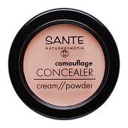 Sante Camouflage Concealer Cream Powder - Коректор за лице с високо покритие -