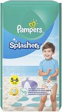 Pampers Splashers 5-6 - Бански гащички за еднократна употреба за бебета с тегло над 14 kg -