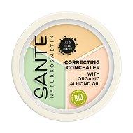 Sante Correcting Concealer Cream Powder - Трицветен коректор за лице - крем