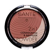 Sante 2 in 1 Contouring & Bronzer Powder - Двуцветна пудра с бронзиращ ефект за контуриране на лицето -