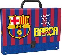 Кутия със закопчалка и дръжка - ФК Барселона - Размери 33 x 24 cm