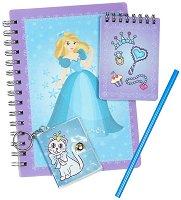 Тефтерчета - Принцеса - Комплект с молив и ключодържател
