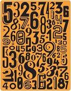 Папка за ембосинг - Цифри - За машина за изрязване и релеф