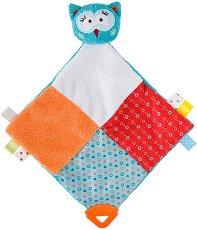 Совата Хана - Бебешка играчка за гушкане с дъвкалка -