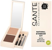 Sante Eyebrow Talent Kit - Комплект за оформяне на вежди с огледалце -