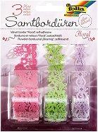 Хартиена самозалепваща дантела - Цветя - Комплект от 3 броя