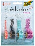 Хартиена самозалепваща дантела - Фантазия - Комплект от 4 броя