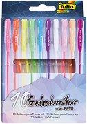Цветни гел химикалки в пастелни цветове - Комплект от 10 цвята