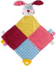 Зайчето Сю - Бебешка играчка за гушкане с дъвкалка -
