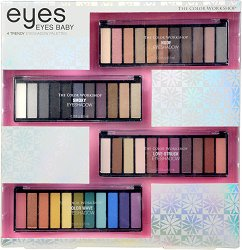 Markwins International Color Workshop Eyes Baby - Комплект с 4 палитри сенки за очи -