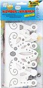 Картонени корони за оцветяване - Творчески комплект -
