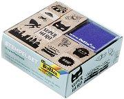 Гумени печати - Супергерои - Комплект с мастилени тампони