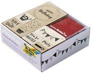 Гумени печати - Рожден ден - Комплект с мастилени тампони