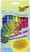 Двувърхи флумастери - Комплект от 10 цвята