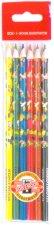 Цветни моливи - Папагали - Комплект от 6 цвята