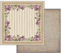 Хартия за скрапбукинг - Виолетова рамка - Размери 30.5 х 30.5 cm
