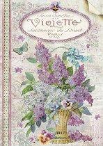 Декупажна хартия - Виолетов рай - Формат А4