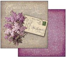 Хартия за скрапбукинг - Лична пощенска картичка - Размери 30.5 х 30.5 cm