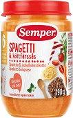 Semper - Пюре от спагети с говеждо месо - Бурканче от 190 g за бебета над 6 месеца - пюре