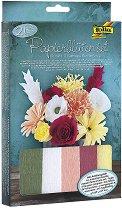 Направи сама - Букет от хартиени цветя - Творчески комплект -