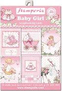 Хартии за скрапбукинг - Момиченце - Комплект от 24 листа с размери 11.4 x 16.5 cm
