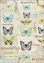 Декупажна хартия - Пеперуди - Формат А4