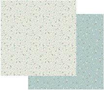 Хартия за скрапбукинг - Мотиви на пастелен фон - Размери 30.5 х 30.5 cm
