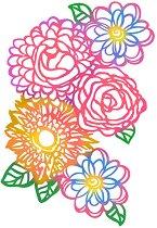 Шаблон - Пъстри цветя