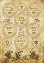Декупажна хартия - Коледни надписи