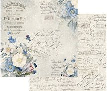Хартия за скрапбукинг - Английски букет - Размери 30.5 х 30.5 cm