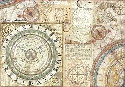 Декупажна хартия - Алхимия и астрономия - Размери 50 x 35 cm