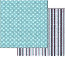 Хартия за скрапбукинг - Точки и райета - Размери 30.5 х 30.5 cm
