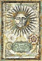 Декупажна хартия - Алхимично слънце - Формат А4