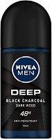"""Nivea Men Deep Dry & Fresh Feeling 48h Anti-Perspirant - Ролон дезодорант за мъже против изпотяване от серията """"Deep"""" - продукт"""