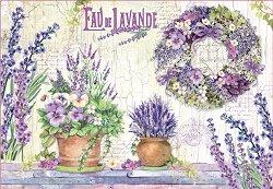 Декупажна хартия - Лавандулова мечта - Размери 50 x 35 cm