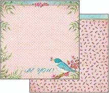Хартия за скрапбукинг - Бъди себе си - Размери 30.5 х 30.5 cm