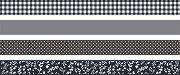 Декоративно тиксо с черни мотиви - Комплект от 4 броя